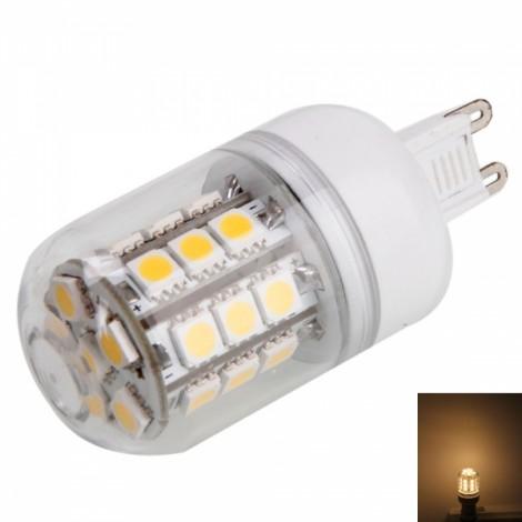 G9 4.5W SMD5050 27LED 270LM 3000K Warm White Light Corn Light with Transparent Cover (200-240V)
