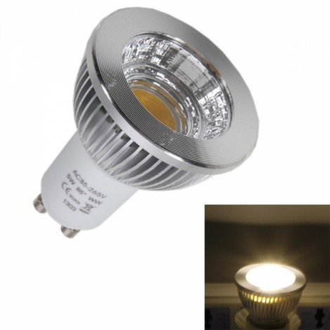 GU10 5W 320-400lm Warm White LED COB Spotlight Bulb (100-240V)