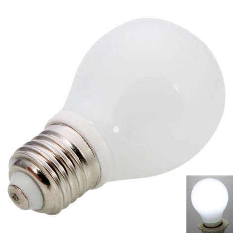 E27 5W 3000K White Light Bulb Milky White (100-240V)