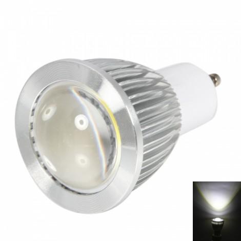 GU10 3W 270-300LM 5500-6500K Convex White Light COB LED Spot Light Bulb (85-265V)