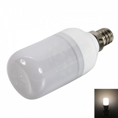 E12 1.5W 12LEDs SMD5730 90-120LM 2800-3200K Warm White Light LED Corn Light Bulb with Frosted Shade (220-240V)