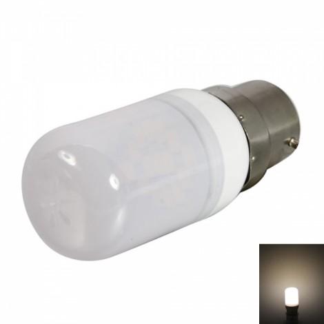 B22 1.8W 15LEDs SMD5730 120-140LM 2800-3200K Warm White Light LED Corn Light Bulb with Frosted Shade (220-240V)