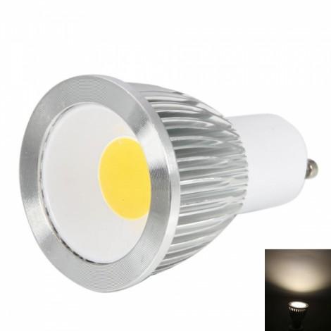 GU10 9W 450-500LM 2800-3200K Planar Warm White Light Dimmable COB LED Light Bulb (110V)