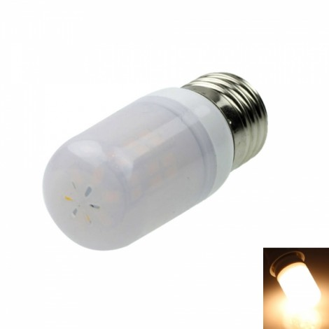 E26 8W 42LEDs SMD5730 800-1200LM 3000-3500K Warm White Light LED Corn Light Bulb with Frosted Shell White & Silver (12-16V)