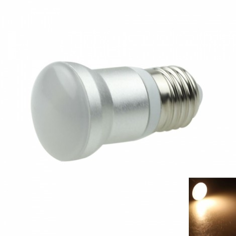 E27 R39 4W COB LED 240-260LM 3000-3500K Warm White Light LED Light Bulb White & Silver (AC 85-265V)