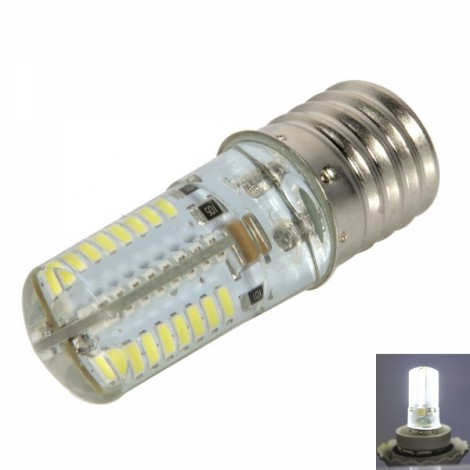 E17 3W 64 SMD 3014 LED 6000-6500K White Corn Light (AC 100V-120V)