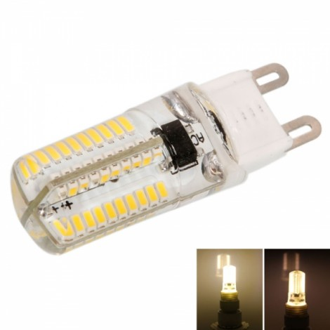G9 4W 80*SMD3014 LED 3000-3500K Warm White Light Dimmable Silicone Corn Light (AC 200-240V)