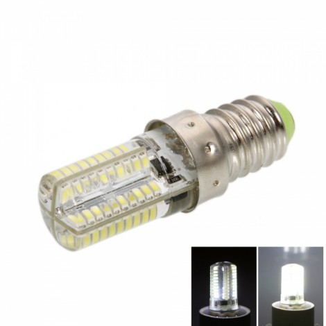 E14 4W 80*SMD3014 LED 6000-6500K Pure White Light Dimmable Silicone Corn Light (AC 100-120V)
