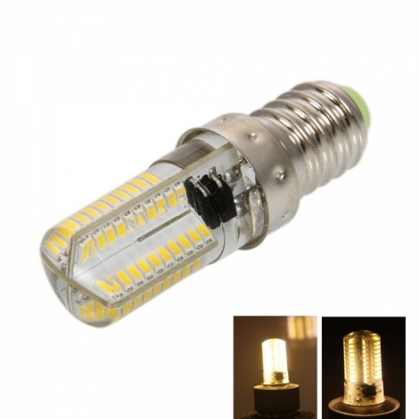 E14 4W 80*SMD3014 LED 3000-3500K Warm White Light Dimmable Silicone Corn Light (AC 100-120V)
