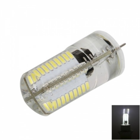 G4 4W 80*SMD3014 LED 6000-6500K Pure White Light Dimmable Silicone Corn Light (AC 100-120V)