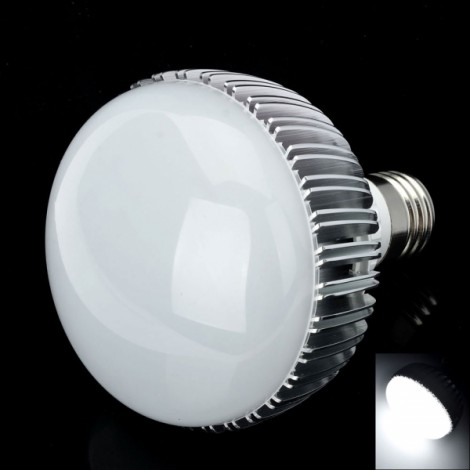 9535-12 E27 12W 1140LM 6000-7000K Neutral White 12-LED Light Bulb Silver & White (85~265V)