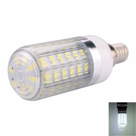 E14 10W 56x5730SMD LED 1000LM  6000-6500K White Light LED Corn Bulb with Striped Lampshade (110-130V)
