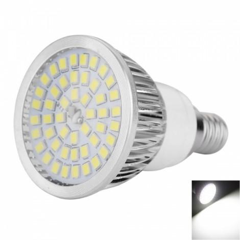E14 9W 48 x 2835 SMD 650LM 6000-6500K White LED Spotlight (85-265V)