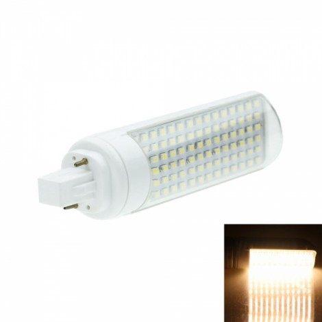 G24 7W 90SMD 3528LED Warm White 3000-3500K 360-450LM Horizontal Plug LED Downlight (AC 85-265V)