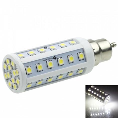 GU10 9W 48-LED 5050SMD 480-520LM 6000-6500K White Light LED Corn Light White & Silver (AC/DC 12-24V)