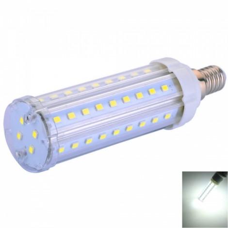 E14 12W 58-LED SMD2835 1380LM 6000-6500K Pure White Light Corn Lamp (AC 100-240V)