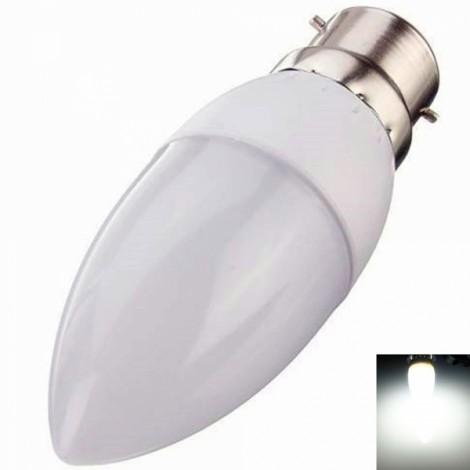 B22 3W 10 LED 2835SMD 6000K-6500K Pure White Light Cusp LED Candle Lamp
