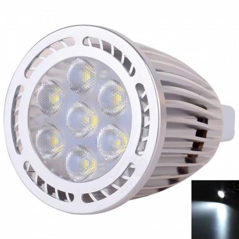 MR16 7W 7*3030SMD LED 6000-6500K White Light Pearly Polish LED Spotlight (AC/DC 12V)