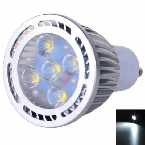 GU10 5W 5*3030 SMD LED 6000-6500K White Light Pearly Polish LED Spot Lamp (AC 85-265V)