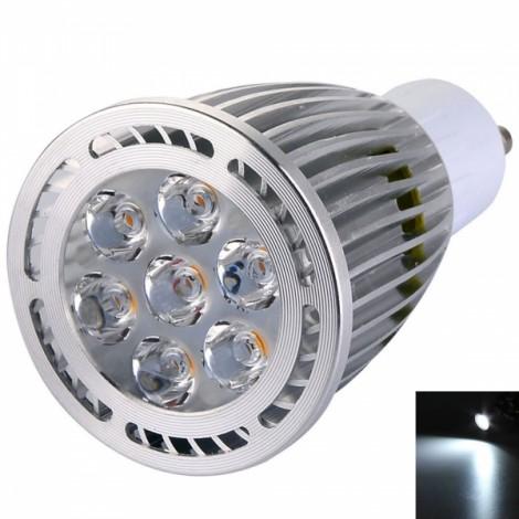 GU10 7W 7*3030SMD LED 6000-6500K White LED Spotlight (AC 85-265V)