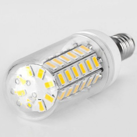 E14 12W 820lm 3500K Warm White Light 56-SMD 5730 LED Corn Lamp Bulb (AC 220V)