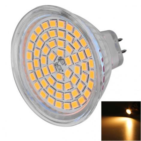 MR16 5W 60-LED 2835SMD 450lm 3000K Warm White Light LED Light Bulb (AC/DC 12V)