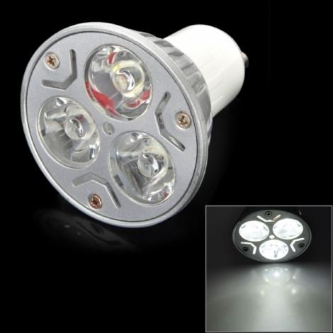 GU10-3W-Z GU10 3W 3-LED 130LM 5000-5500K White LED Light Silver & White (220V)