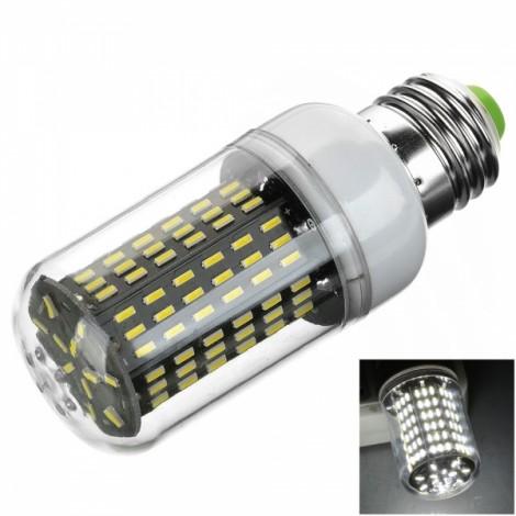 E27 15W 1200lm 6500K White Light 138-SMD 4014 LED Corn Lamp Bulb (AC 110-120V)