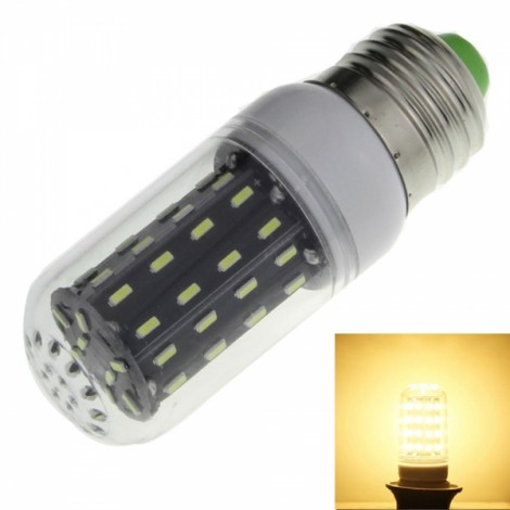 E27 7W 700lm 3000K Warm White Light 56-SMD 4014 LED Corn Lamp Bulb (AC 110-120V)