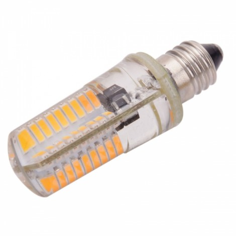 E11 4W 72-LED 4041SMD 3000-3500K Warm White Adjustable Silica Gel Corn Light (AC 110V)