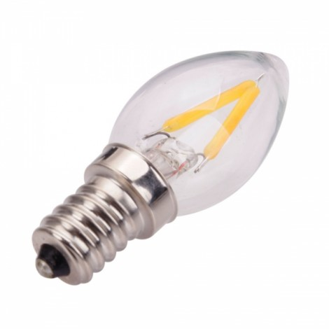 C7 E12 1.5W 2700K Warm White Light LED Candle Lamp (220V)