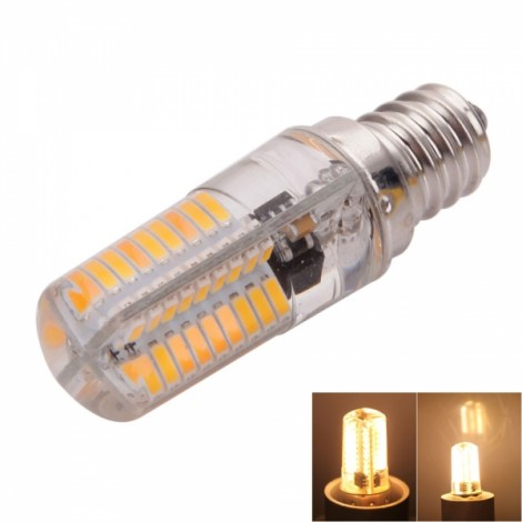 E12 4W 72-LED 4041SMD 3000-3500K Warm White Adjustable Silica Gel Corn Light (AC 110V)