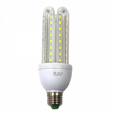 E27 18W 1200LM 64x5730SMD LED 3000K Warm White 4 U-tube LED Energy-saving Lamp (AC180-240V)