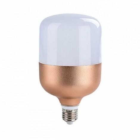 30W E27 Constant Current Flat Head Ultra White Light Bulb Golden (220V)