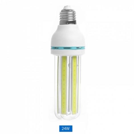 E27 24W LED Bulb COB U Shape Warm White Energy Saving Corn Light Lamp