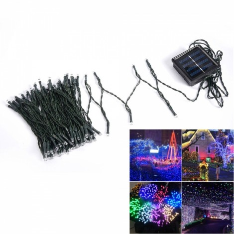 100 LED Green Light Indoor Outdoor Wedding Christmas Party Solar Powered String Light