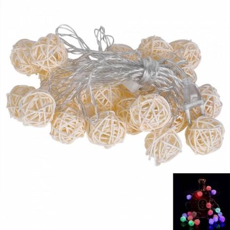5M 20-LED Milky White Sepa Takraw Style Festival Decoration String Light Colorful Light