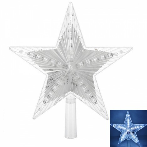 Decoration Light Christmas Tree 3D Luminescent Star Pendant Light White