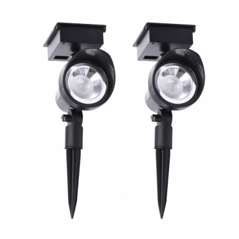 2pcs IP44 Waterproof Outdoor 30-Lumen LED Solar Powered Spot Light Garden Lamp for Landscape Lawn Yard