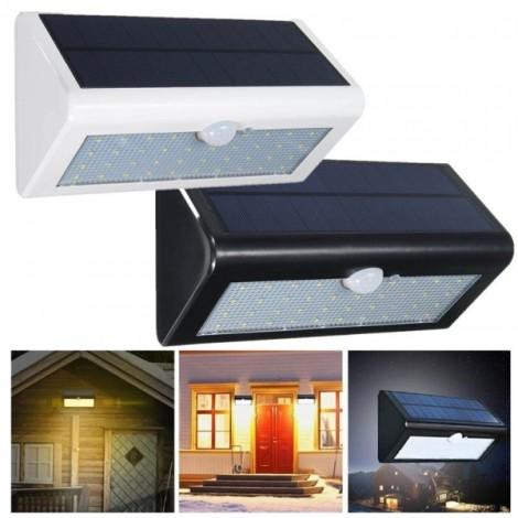38-LED White Light Solar Power PIR Motion Body Sensor Light Outdoor Waterproof Wall Garden Fence Shed Flood Lamp White