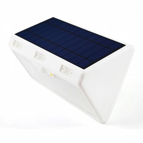 60-LED 4800mAh 4 Modes Waterproof Solar Motion Sensor LED Light Lamp for Garden Patio Yard Driveway White Shell & White Light