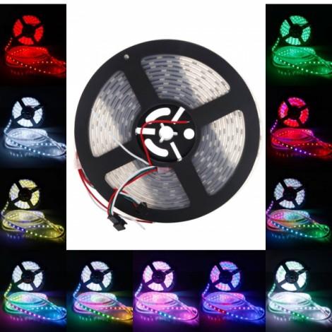 WS2812B 300-LED SMD5050 RGB Waterproof Flexible LED Light Strip White PCB (5V)