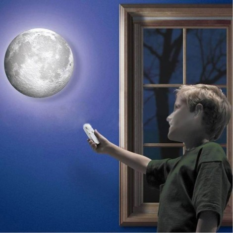 LED Light Moon Nightlight Wall Lamp Remote Control