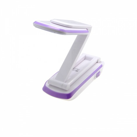 KM-6662C 2.6W 120LM 32-LED 6000K White Light iPhoen Style Foldable Table Lamp White & Purple