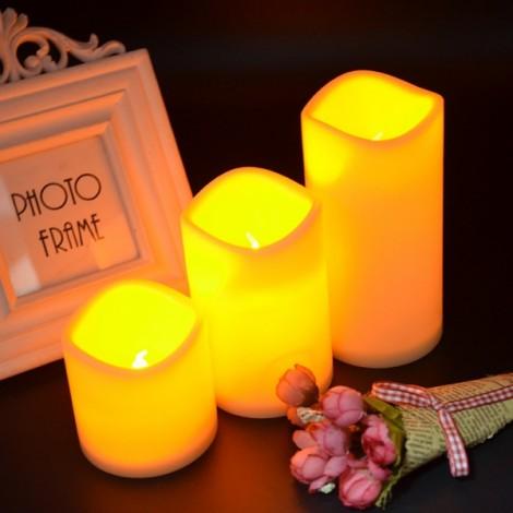 Cylindrical Flameless Flickering LED Candle Light Garden Yard Christmas Lamp Decoration (7.5*11.5cm)