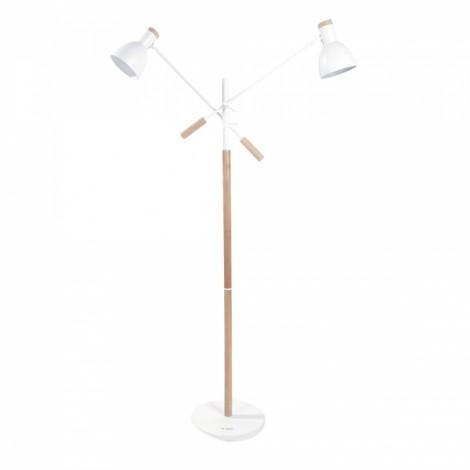 Modern Simple Originality Dual-head Floor Lamp White US Standard