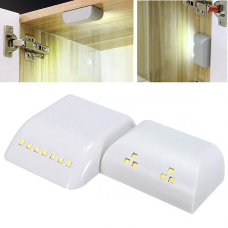 7 LED PIR Motion Sensor Wireless Cabinet Wardrobe Drawer Lamp Warm White