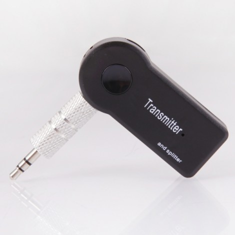 TS-BT35F08 Multi-point Wireless Stereo Bluetooth Audio Music Transmitter Splitter Black
