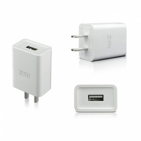 Xiaomi ZMI 2A US Plug Charger Adapter for iPhone iPad Samsung HTC White