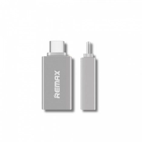 Remax USB 3.0 to Type-C USB 3.1 OTG Adapter for Cellphone Tablet Laptop Silver